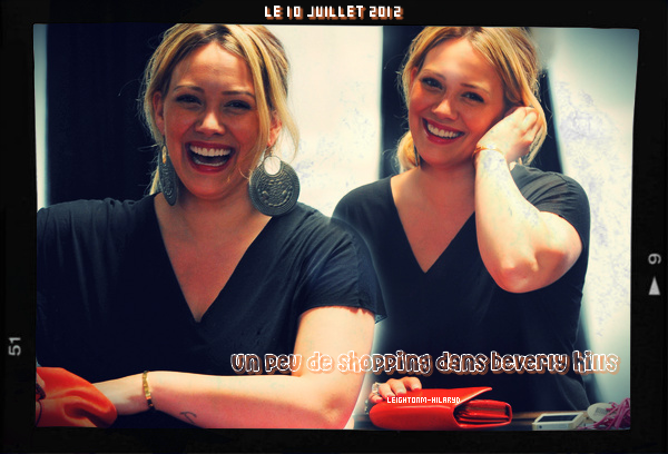 O8 : Hilary Duff fait du shopping, le 10 Juillet 2012