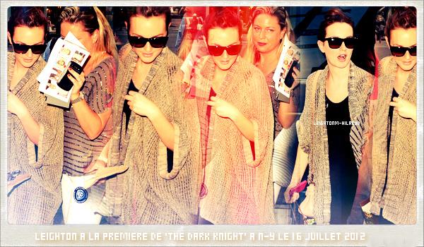 """1O. Le 16 Juillet 2012, Leighton Meester était à N-Y pour la première du film """"The Dark Knight"""""""