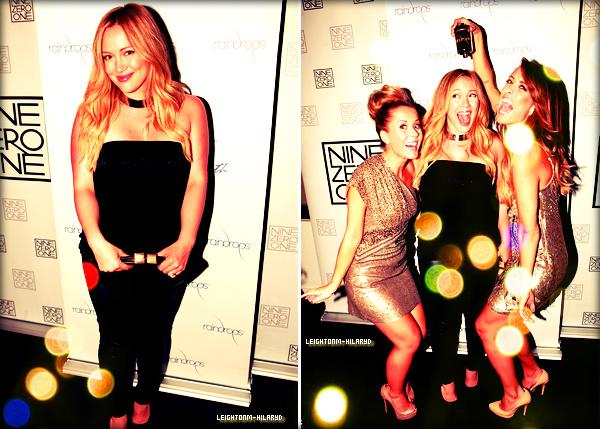 ☼Hilary Duff : Le premier septembre 2012 à L.A, encore un nouvel évènement pour la belle ! Hilary au Nine Zero One anniversaire et soirée de lancement RAINDROPS. Elle est juste merveilleuse, je lui donne un TOP pour sa tenue, son maquillage et la coiffure ! Et toi ? + Le 02 septembre Hilary a étéaperçueavec son fils dans les rues de Los Angeles, mais elle n'a pas l'air très enchantée d'être prise en photo ! Pour voir les photos [clique ici] + Le 04 septembre Hilary sort d'un cours de Pilate àToluca Lake, pour voir les photos [clique ici]