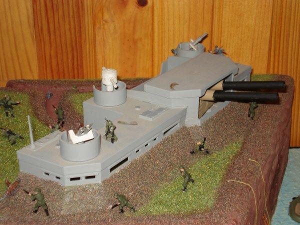 Grande Maquette du Débarquement des troupes Anglo-Canadienne !!