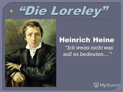 La légende de la Lorelei ....