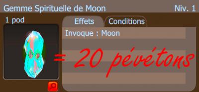 Hache à Lamelles et Gemme de Moon