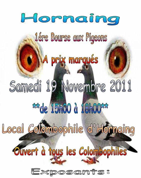 Bourse aux pigeons, le 19 Novembre à Hornaing.