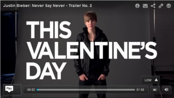 NEVER SAY NEVER : NOUVEAU TRAILER !!