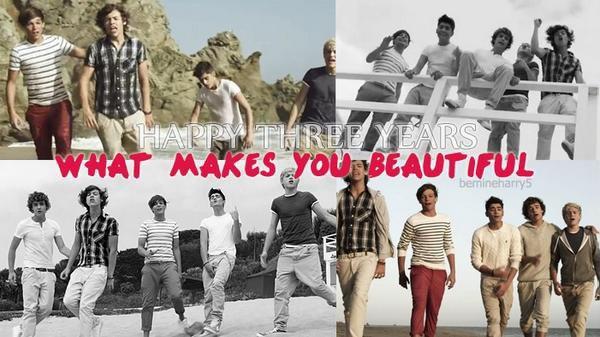 Aujourd'hui ça fait 3 ans que What Makes You Beautiful est sortie