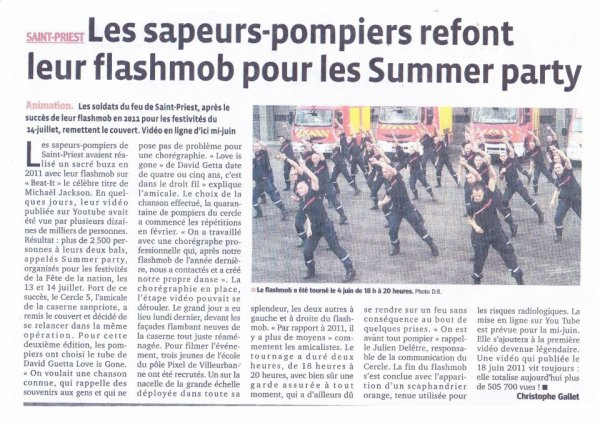 Flashmob Beat it des pompiers de St Priest