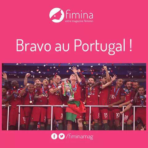 Parabéns Portugal...Mouaaah Cristiano R