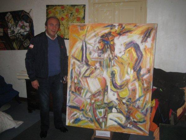 """Mon ami chonchon et """"l'interprétation des rêves..( S. Freud )1,60 x 1,20 métre."""