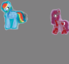 rainbow dash and pinkamena