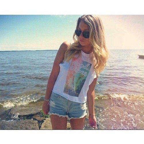 Kelly a la plage !!!