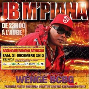 CONCERT DE SOUVERAIN 1ER JB M'PIANA ET WENGE B.C.B.G LE 21 DECEMBRE 2013