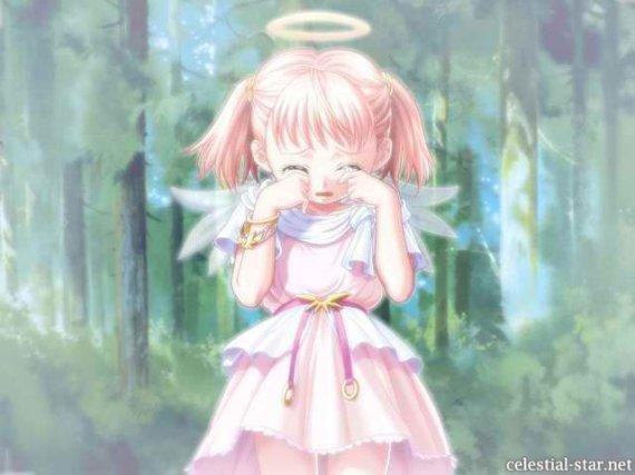 Ange qui pleure de toute son ame