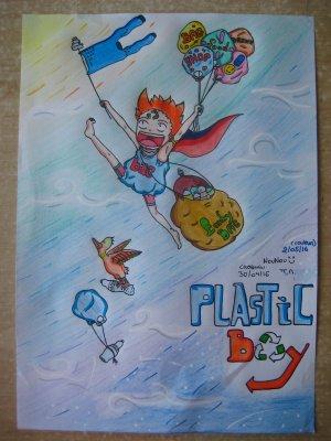 Dessin pour le concours à thèmes de DragonWriter : Plastic Boy