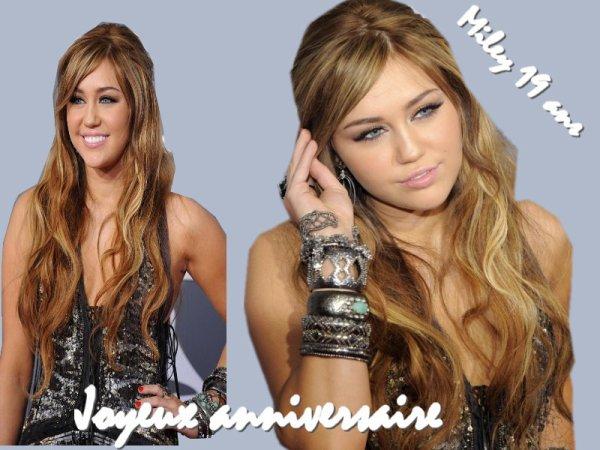 Joyeux Anniversaire Miley 19 ans <3