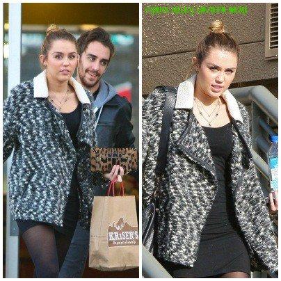 01.12.11 Miley quitte le California Pizza Kitchen, Studio City