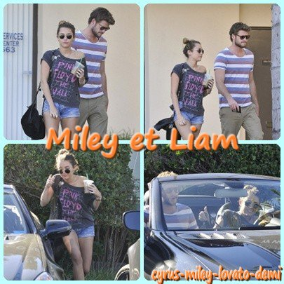 05.01.12 Miley & Liam Quittent Un Salon De Tatouages , Studio City