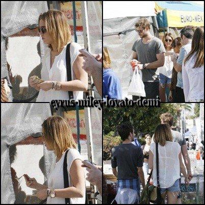 12.02.12 Miley & Liam au marché , Los Angeles