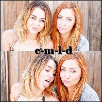 Photoshoot improviser de Miley et sa Soeur