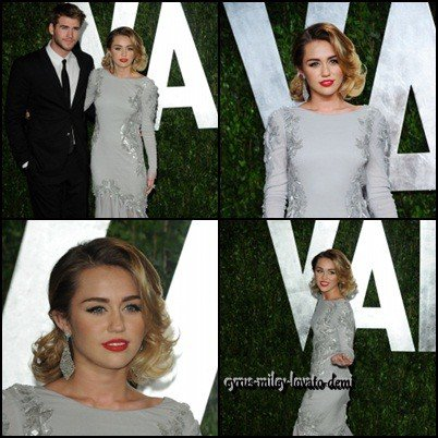 26.02.12 Miley , Vanity Fair Oscar Party
