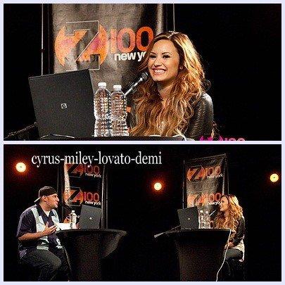 Demi Lovato a la radio Z100