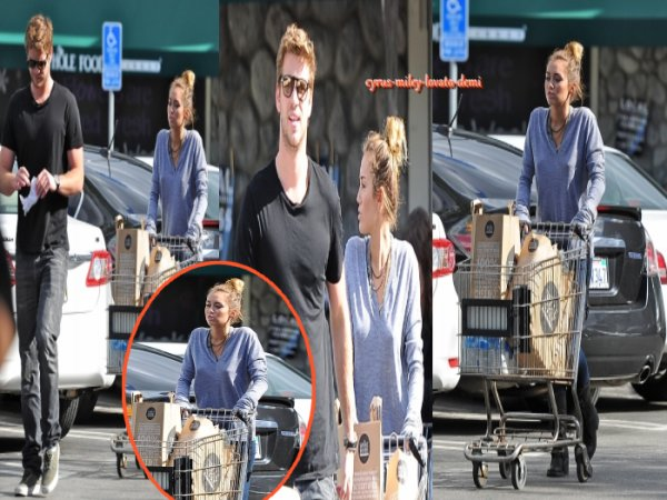 14.04.12 Miley & Liam font leurs courses à Whole Foods