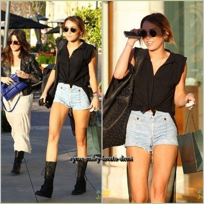 19.04.12 , Miley fait du shopping à Polacheck's , Calabasas Commons