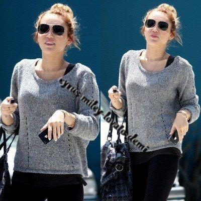 07.05.12 : Miley quitte son cours de Pilates