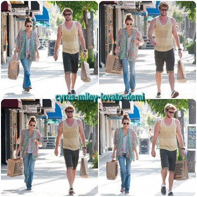 10.05.12 : Miley et Liam font du Shopping , Studio City.