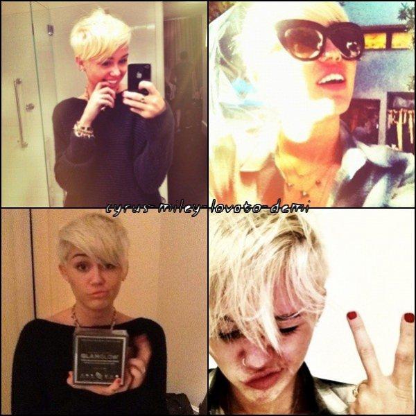 • Miley a une nouvelle coupe !