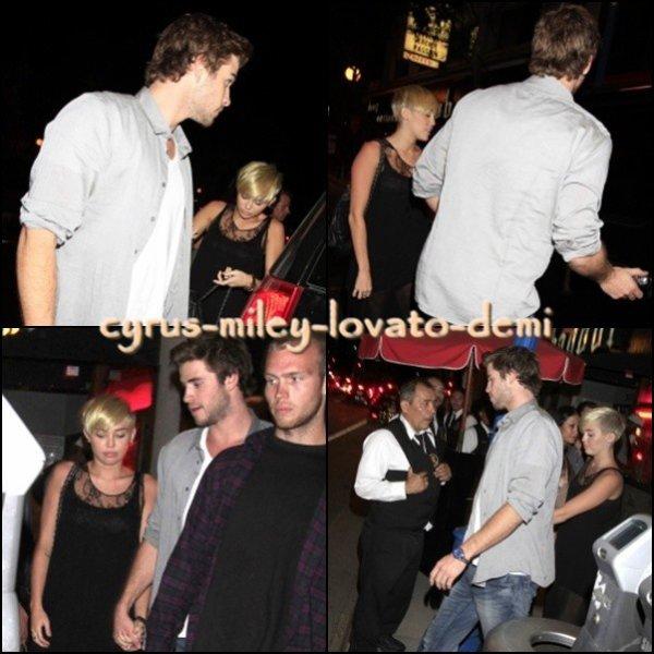 16.09.12 , Miley et Liam au Troubadour , West Hollywood .