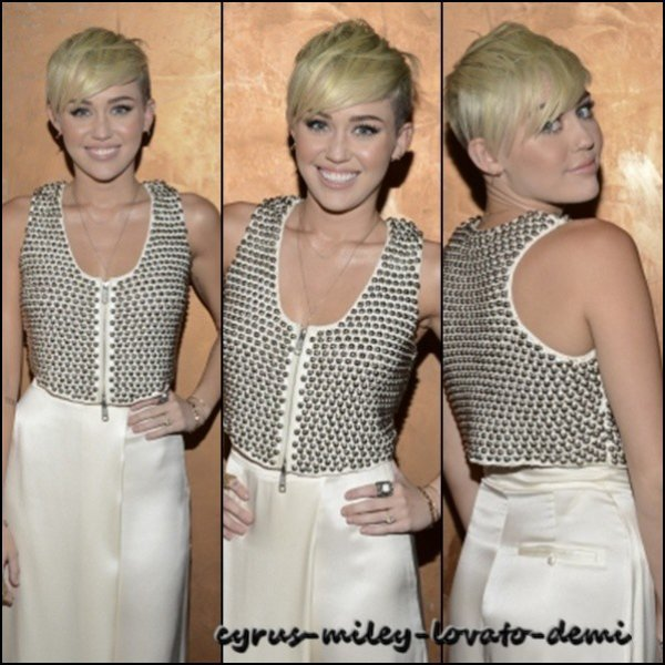 Miley arrivant au City Of Hope Gala le 10 octobre
