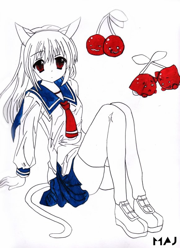 Kuzuri-neko + cherry