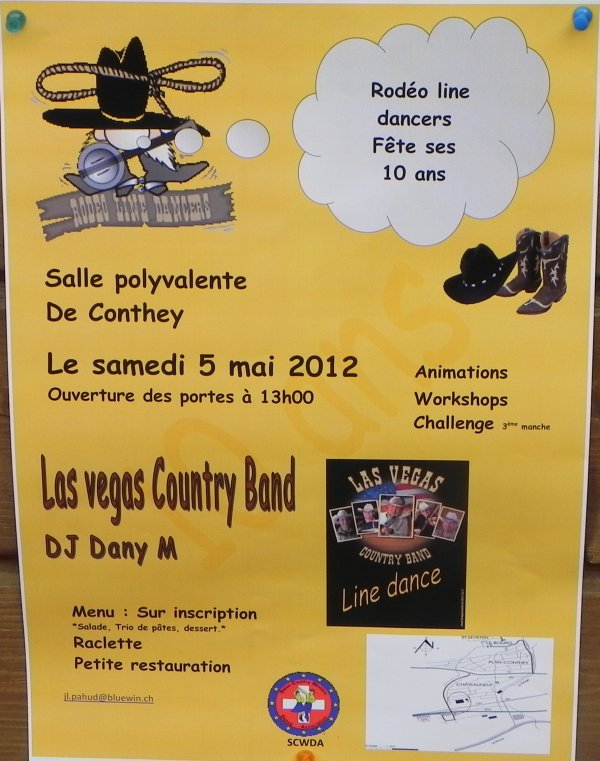 Chevaux, country et line dance.