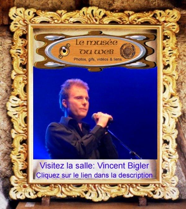 Vincent Bigler au marché chantant.