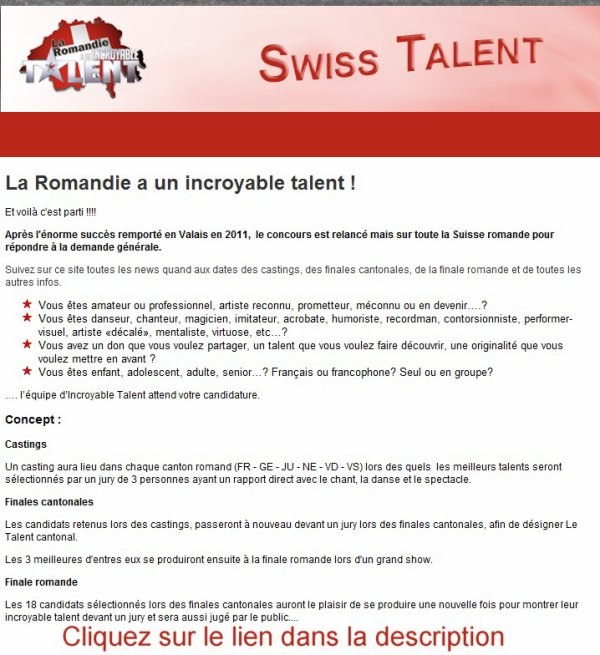 Swiss Talent.