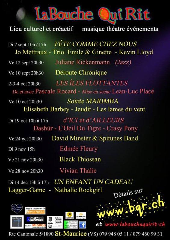 La Bouche Qui Rit, Automne 2014.
