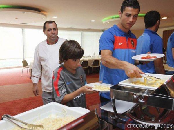 Cristiano avec la sélection portugaise.