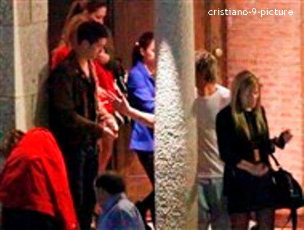 Cristiano à la soirée d'anniversaire de Fabio Coentrao