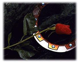 la rose pour la chercheuse de guerrier et le chakram pour se défendre. Tout moi si j'étais une princesse guerrière