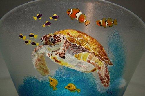 """Saladier """"La tortue et ses poissons"""""""