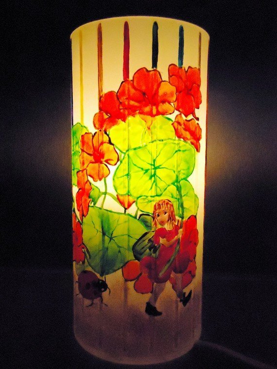 "lampe d'ambiance "" FEE CAPUCINE"""