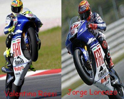 Valentino Rossi Vs Jorge Lorenzo