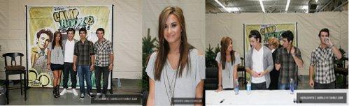 Demi et les JB ont signés des autographes au Wal-Mart store dans Rochester Hillson