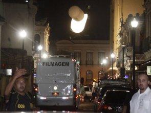 Depois de tumulto, policiais do batalhão de choque vigiam set de 'Amanhecer' ! ! ! ! ! ! !
