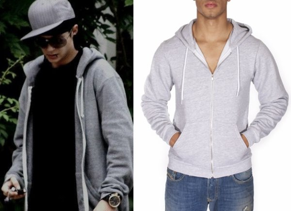 MT497 Salt and Pepper Zip Hoody American Apparel