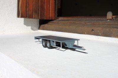 Remorque autoportée 2 essieux