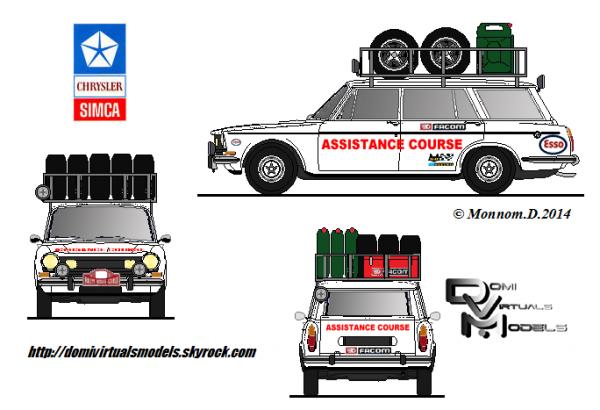 Simca 1501 break assistance course
