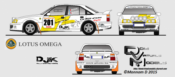 Opel Omege Lotus Rally Car