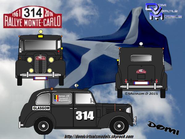 "Austin FX3 Monte Carlo 1961 ""réplica"""