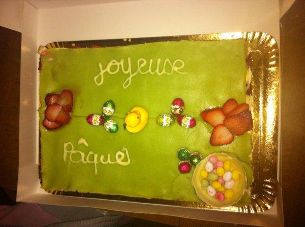 mon gâteau sur le thème de pâque
